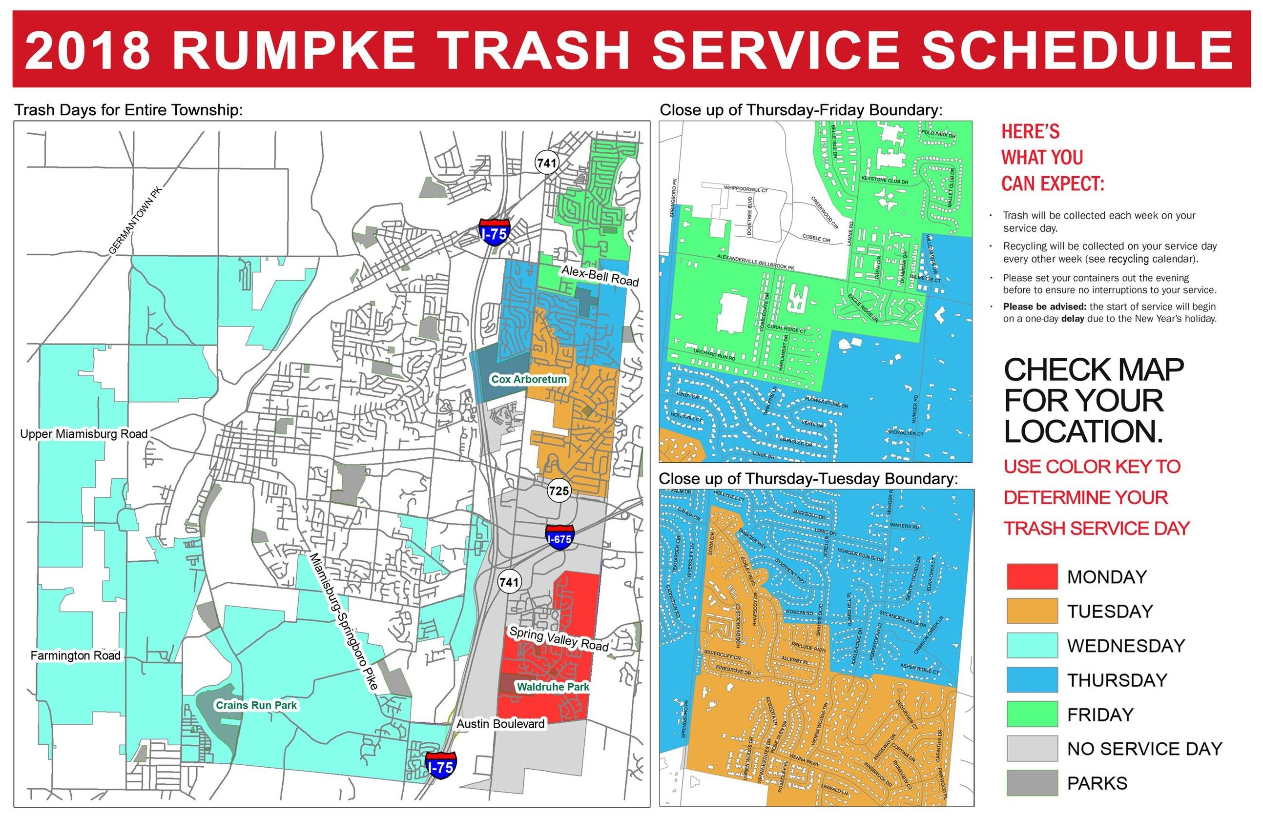 Trash Service Schedule